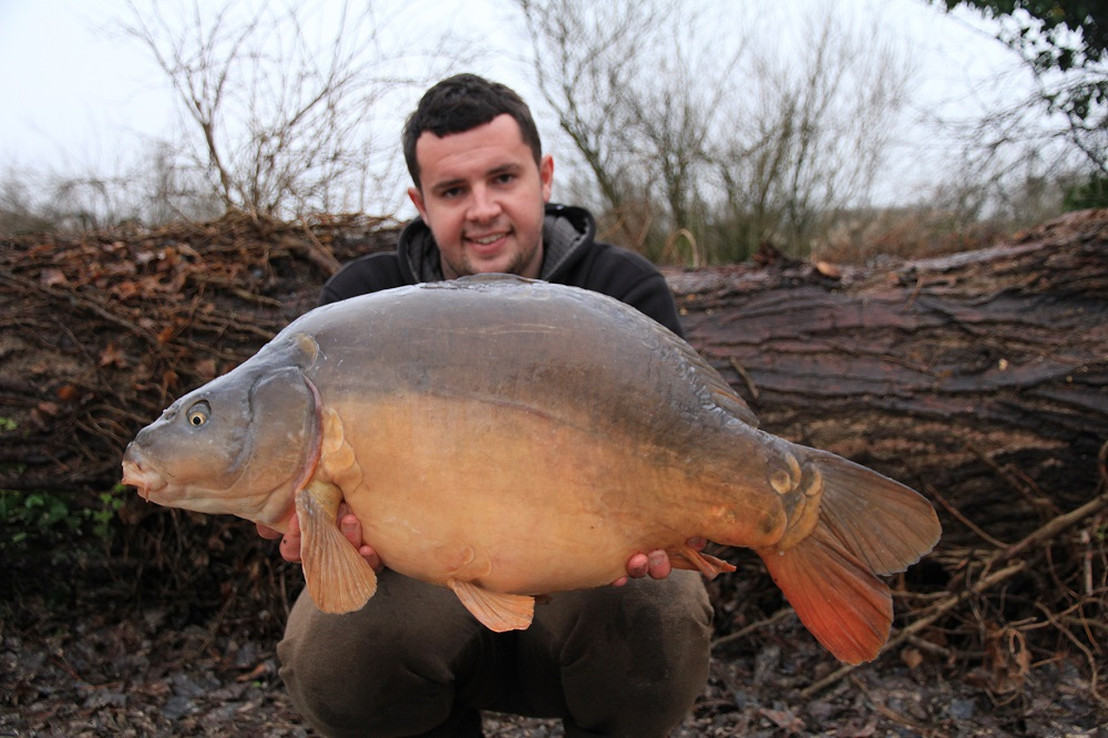 Tom's first fish of 2018 went over 33lb