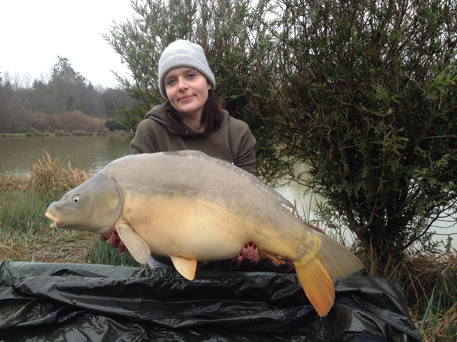 Kelly Crush with the rarely caught 38lb 12oz mirror