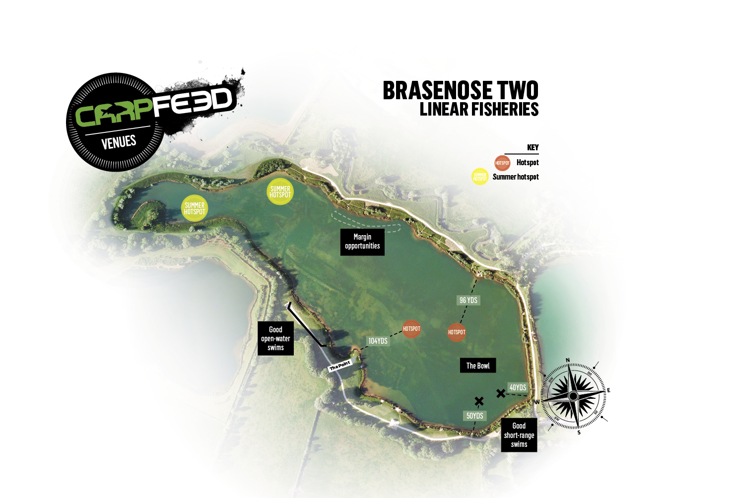 Tom fished the main bowl of the lake. CLICK MAP FOR OUR FULL VENUE GUIDE