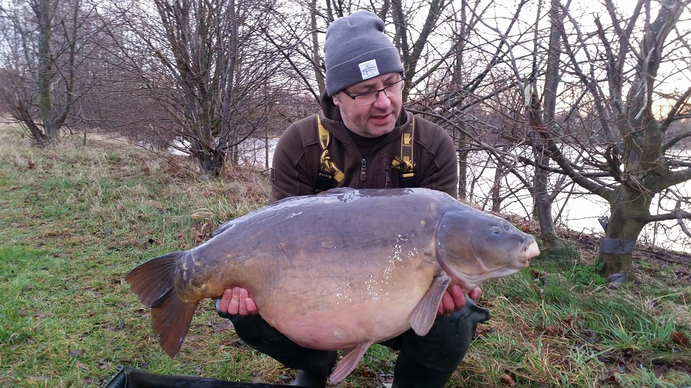 Matthew Royle with the Pig at 45lb 4oz