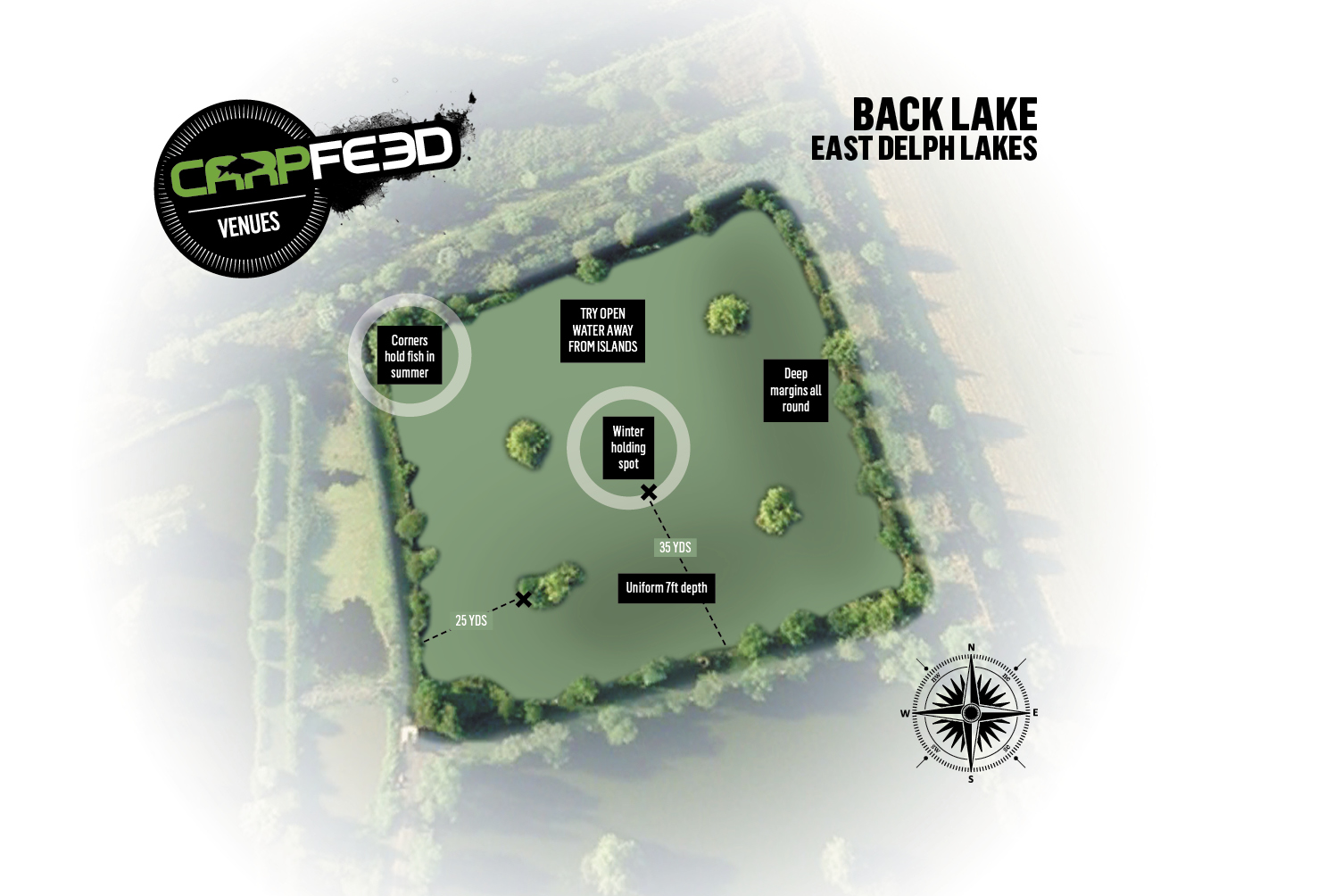 EAST DELPH BACK LAKE: Click the map for our full tactics guide