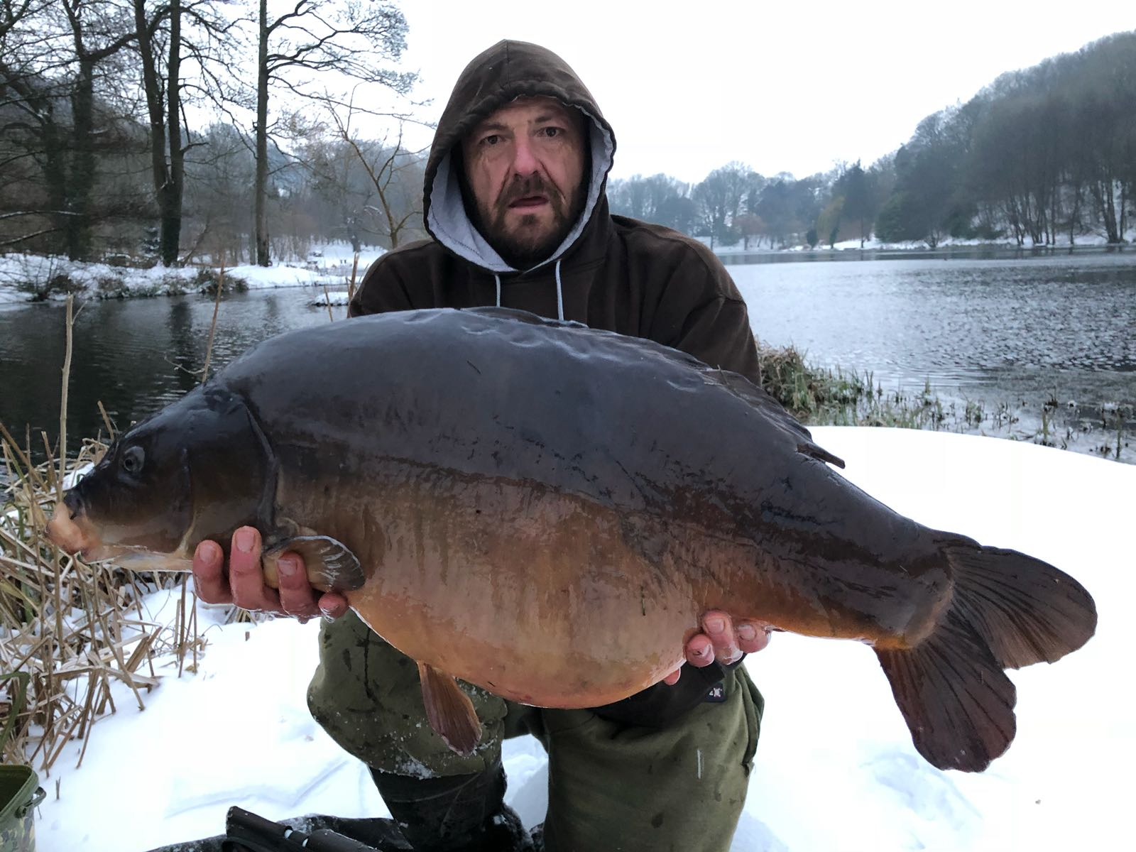 Another 30lb-plus mirror, this one went 32lb 4oz
