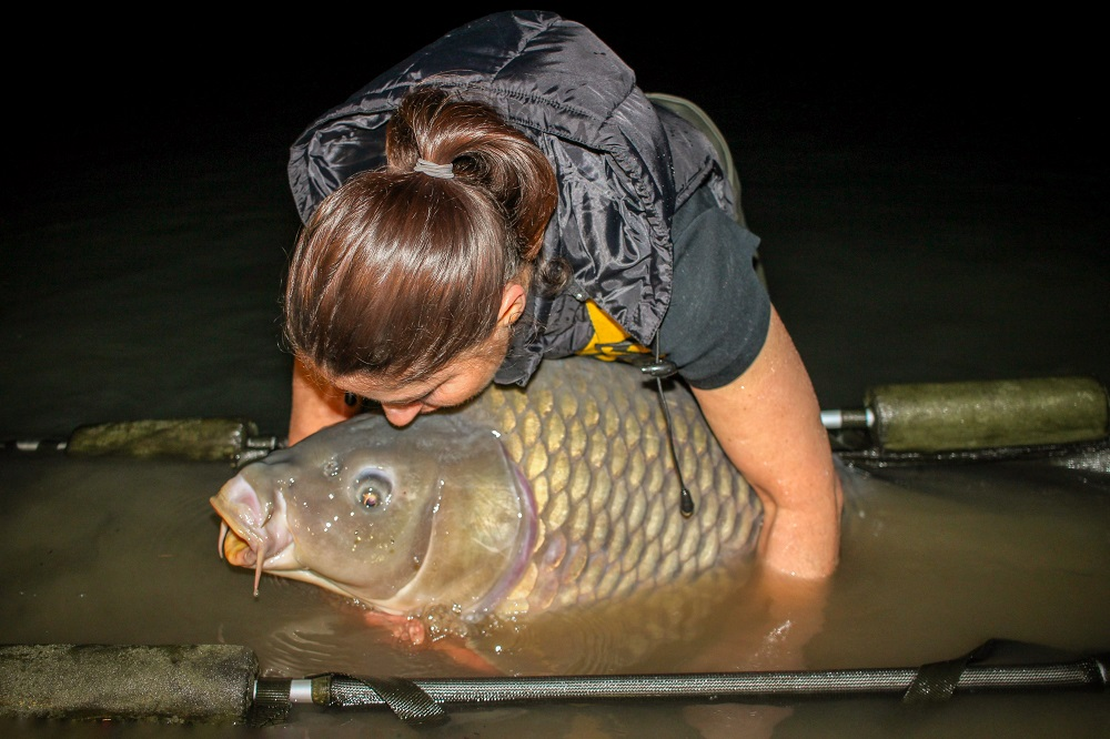 The fish's size is clearly evident here