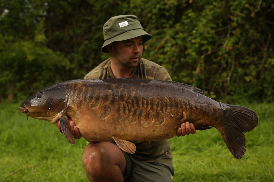 The 43lb 4oz fish is a new pb for Mark