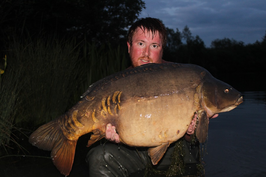 At 40lb 8oz it was a new pb for Matt
