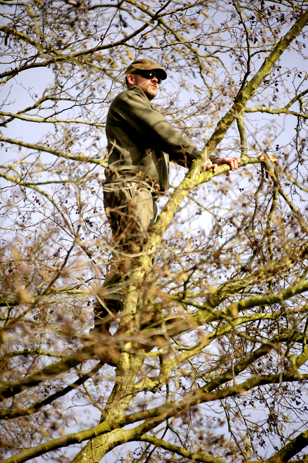 Scott is renowned for climbing trees to gain an aerial viewpoint