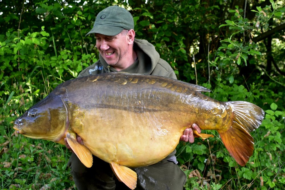 George with Wingham's Black Spot at 58lb 6oz