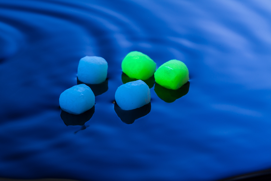 Glow-in-the-dark baits are worth using as zigs