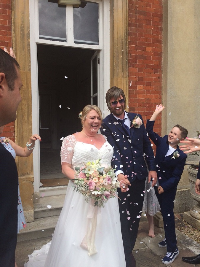 Christopher and Philippa on their special day