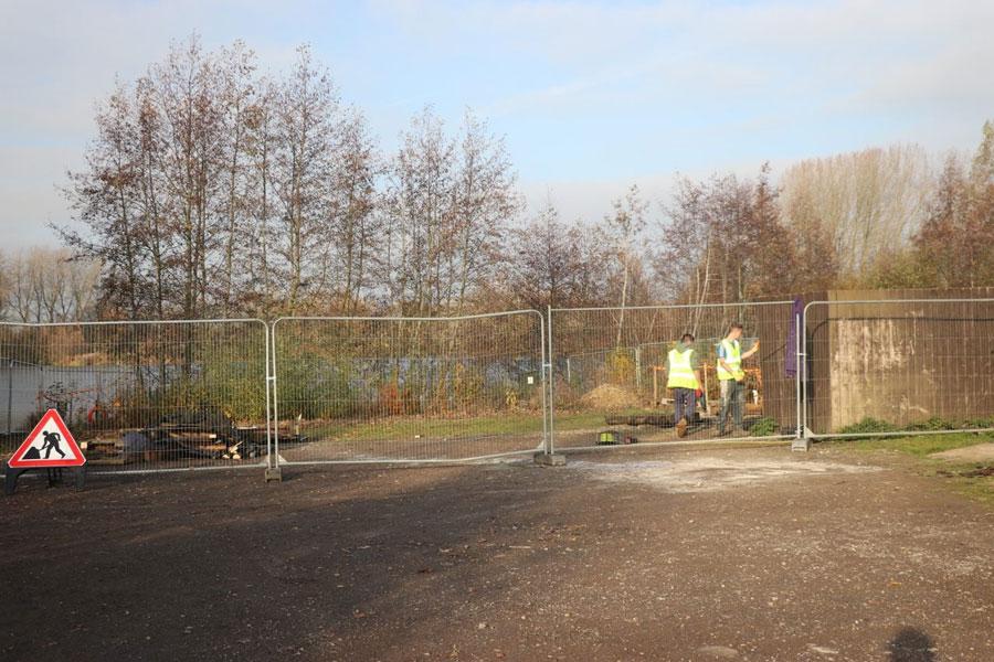 Work began to prepare the site this week
