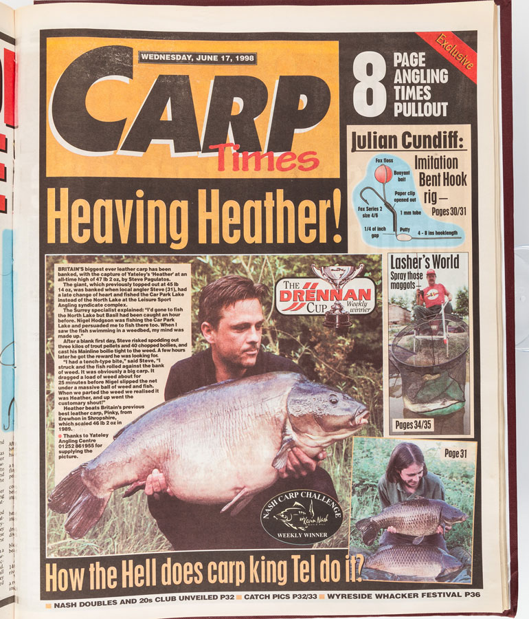How the capture appeared in Angling Times in 1998