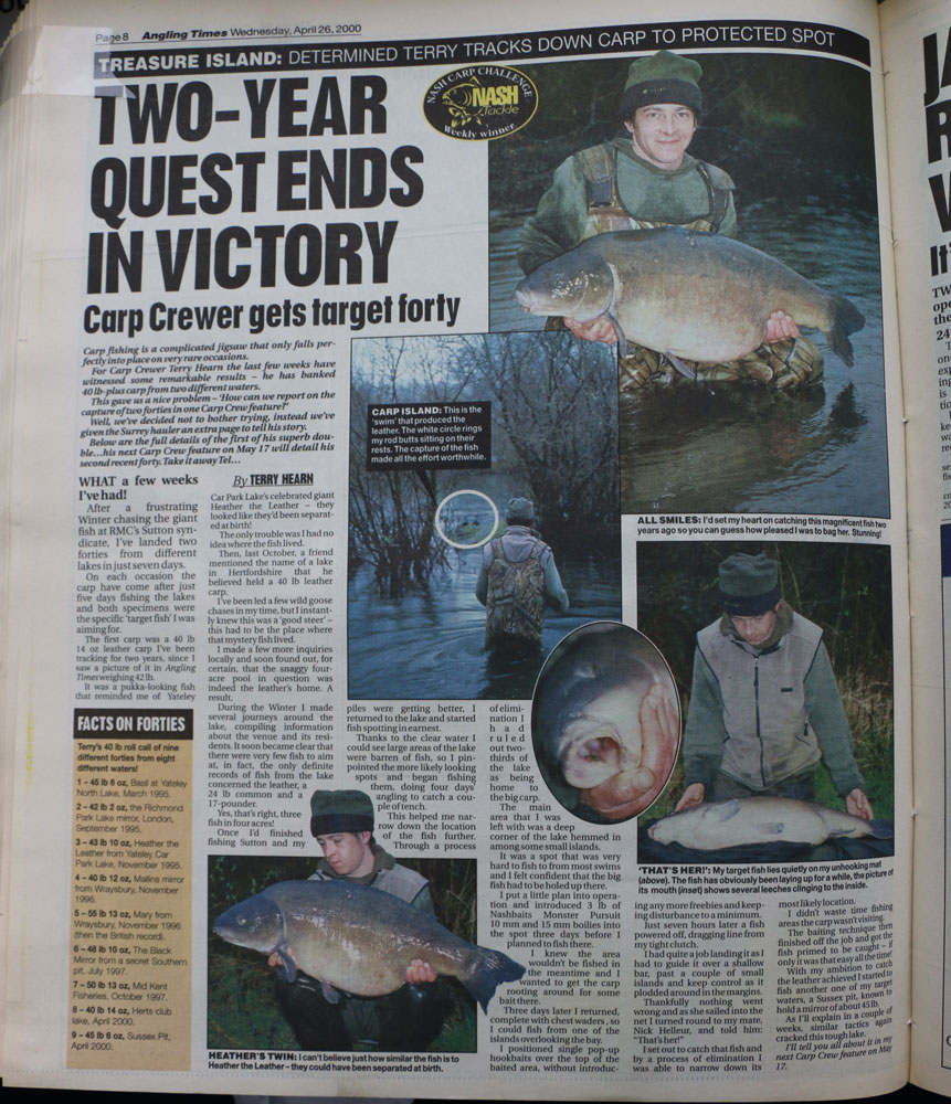 How the story appeared in Angling Times 18 years ago