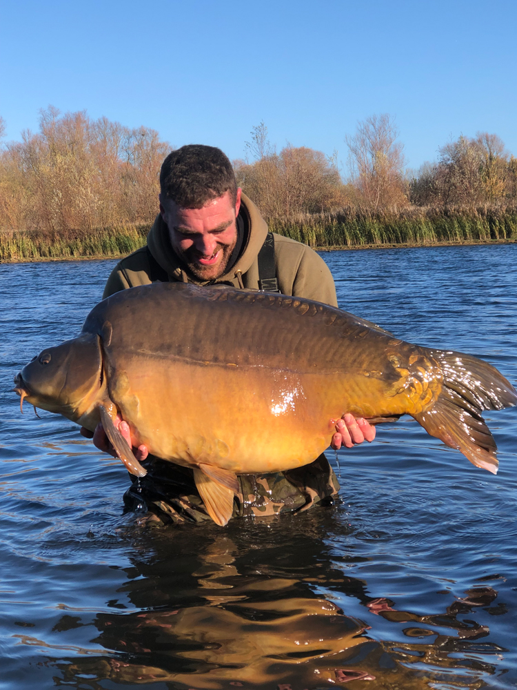 Ryan's fish is just ounce short of the current official British record of 68lb 1oz
