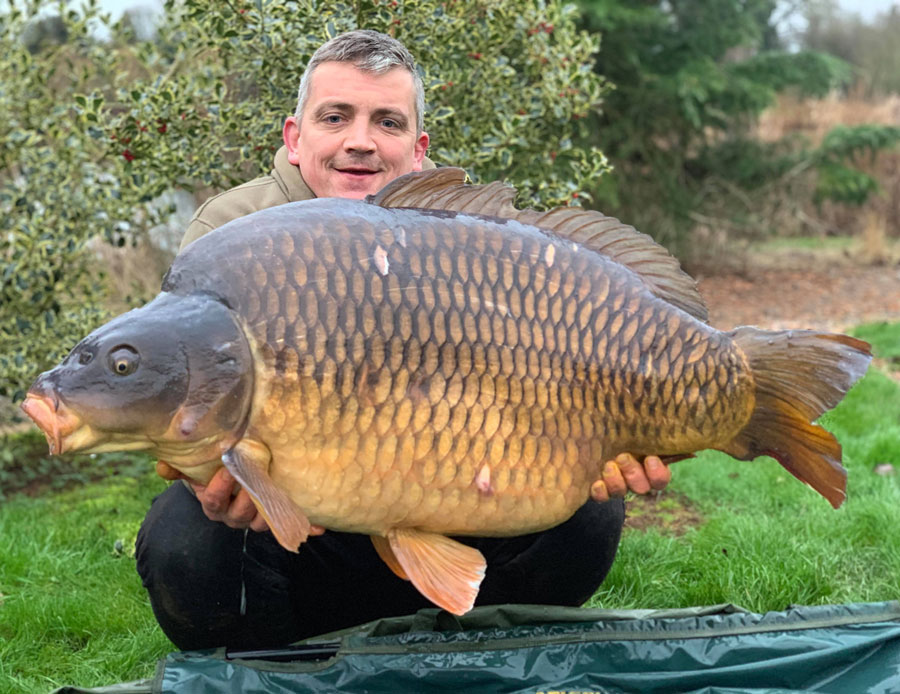 63lb of mighty common. The fish suffered an otter attack at a younger age
