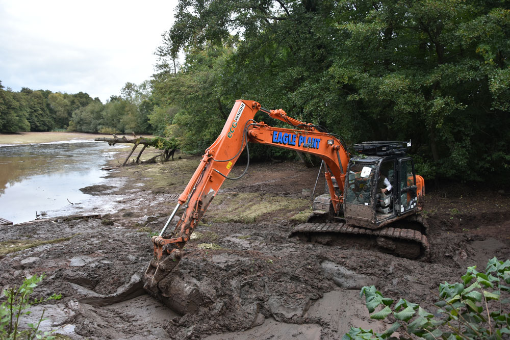 5-6,000 tonnes of silt were removed