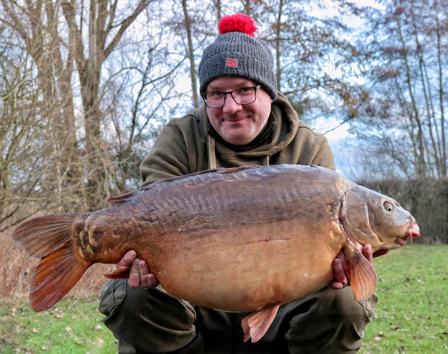 The biggest of the trip at 38lb 1oz. Carp Team Wales's John Flewin was on hand to do pics