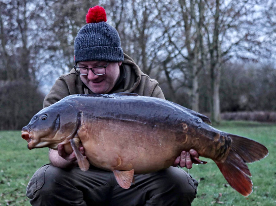 The action was rounded off by this 35lb 6oz mirror
