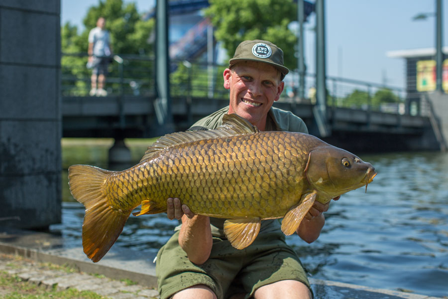 German carp number one, hooked almost immediately!