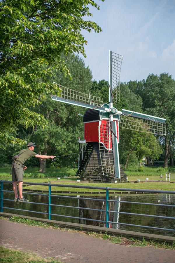 Alan worked hard in the Dutch heat