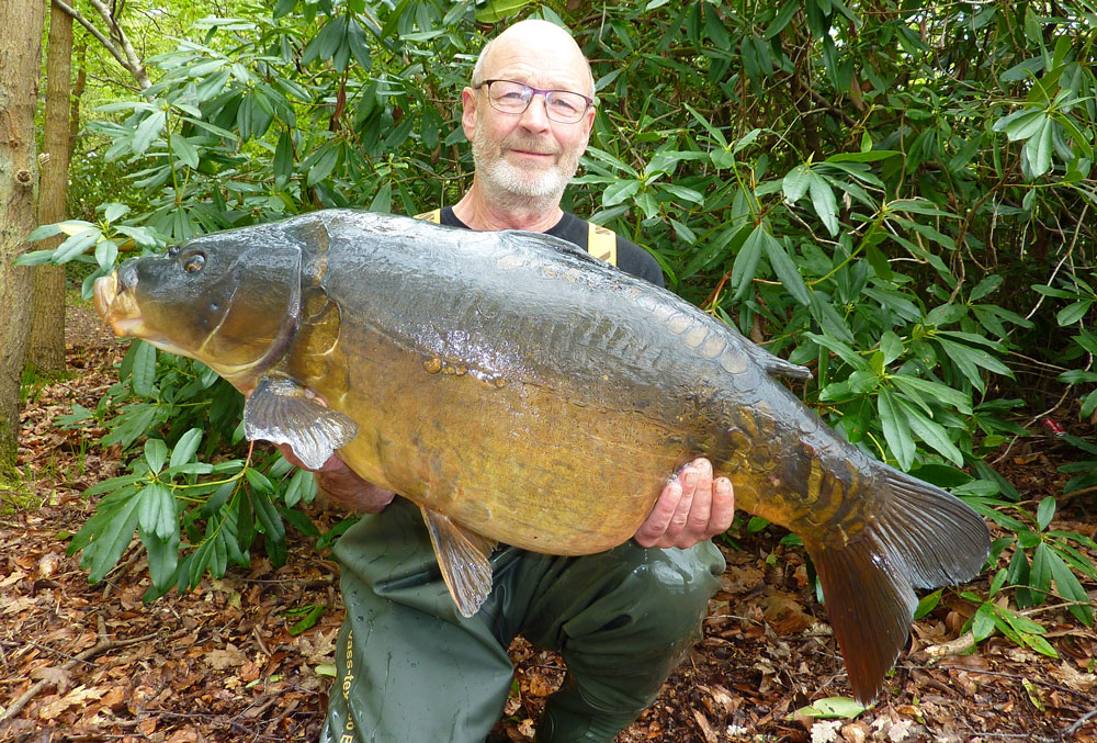 Terry Huxley's 37lb 13oz mirror looks an incredible fish