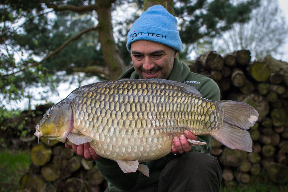 John's second fish was this distinctive 22lb common