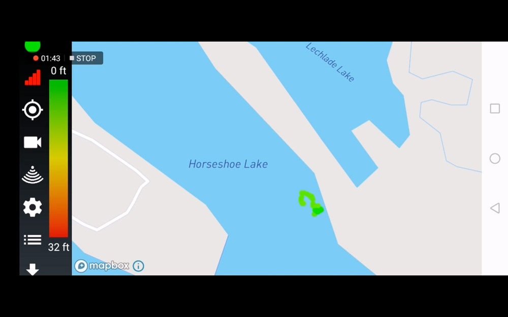 GPS allows you to map a lake