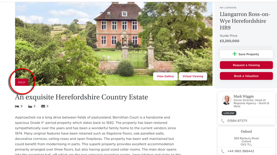 If you were scrabbling around for £3.25m, your chance has gone