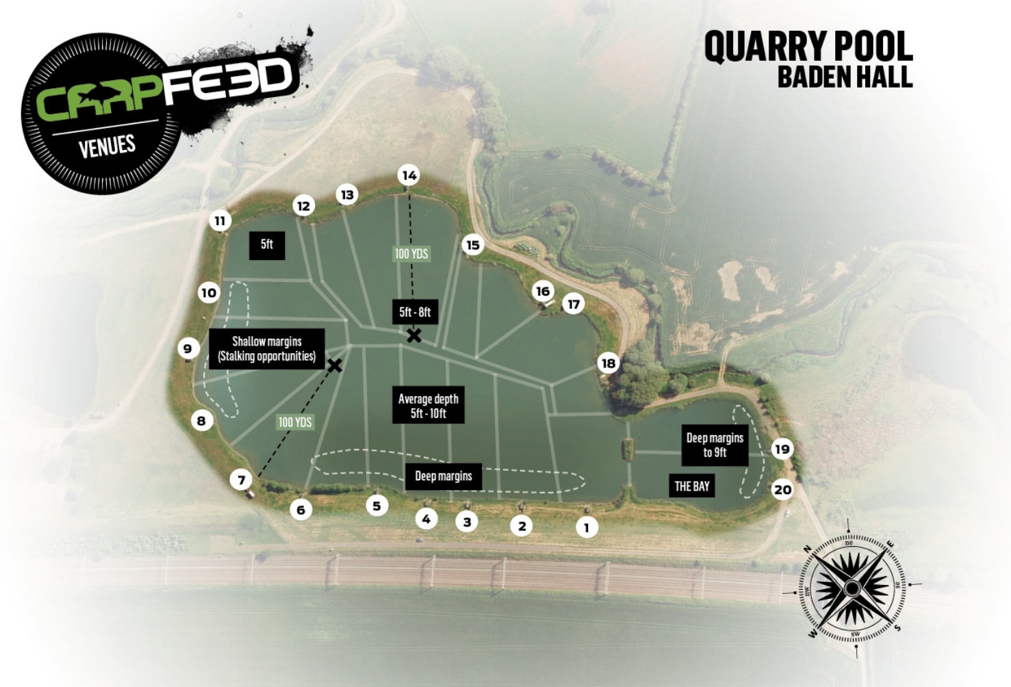 Andrew fished peg one.  CLICK FOR OUR GUIDE TO QUARRY