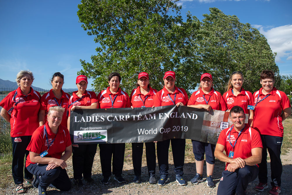 The England team, sponsored by Browns Angling
