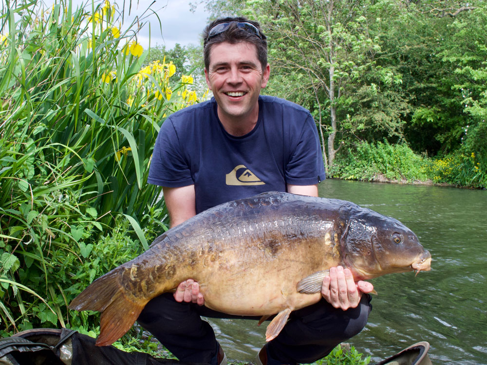 Scott Mann MP is a keen angler. He landed this 37lb 7oz mirror from Walthamstow