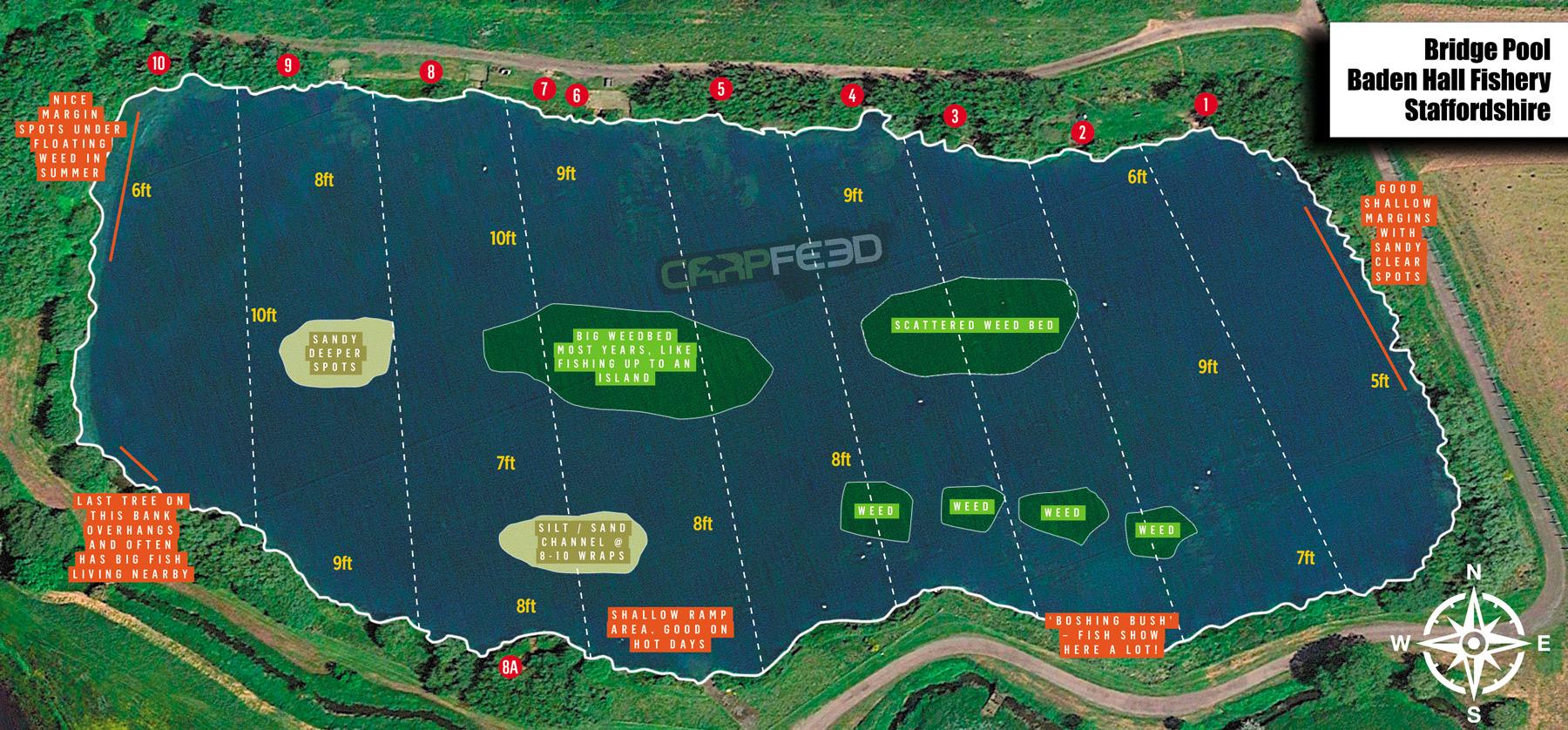Baden Hall Bridge Pool map