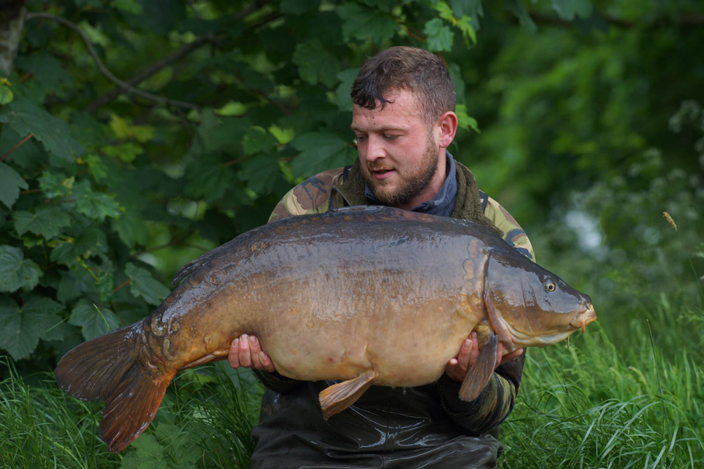 Joe suffered a theft from his swim before landing Mr Angry at 46lb 12oz