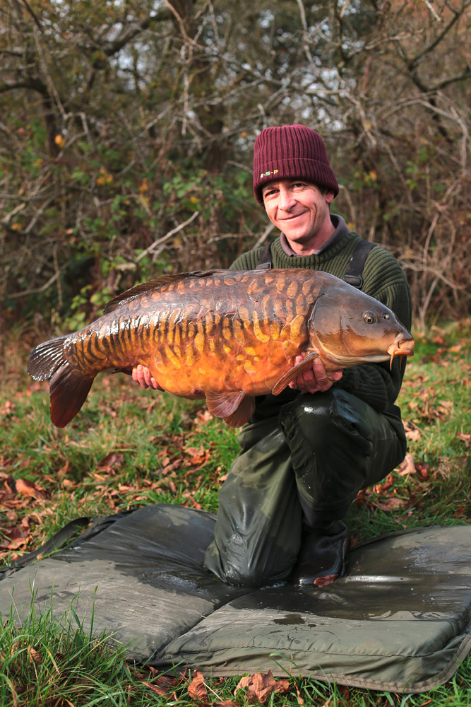 A recent capture proving that Terry is happy fishing in all seasons