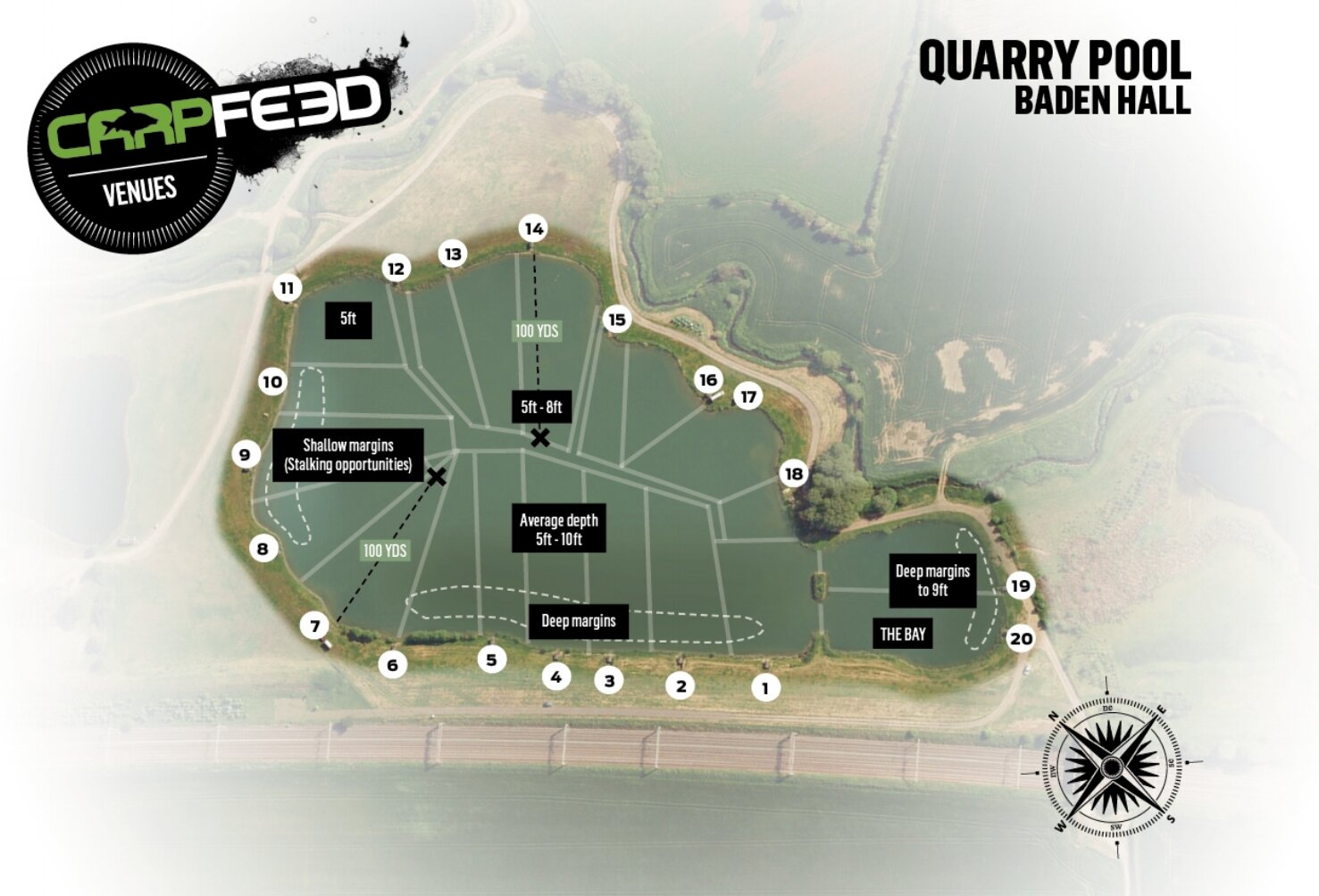 Leon fished peg three.  CLICK THE MAP FOR OUR FULL VENUE GUIDE