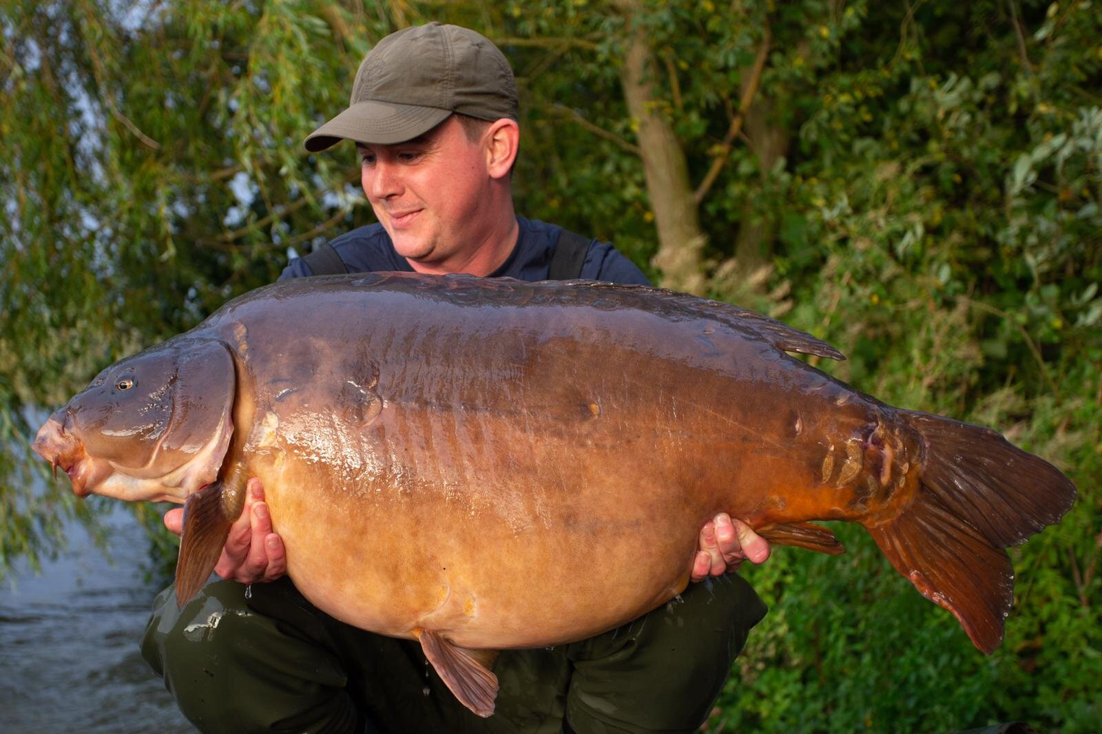 This beast weighed 65lb 12oz. The current official record is 68lb 1oz