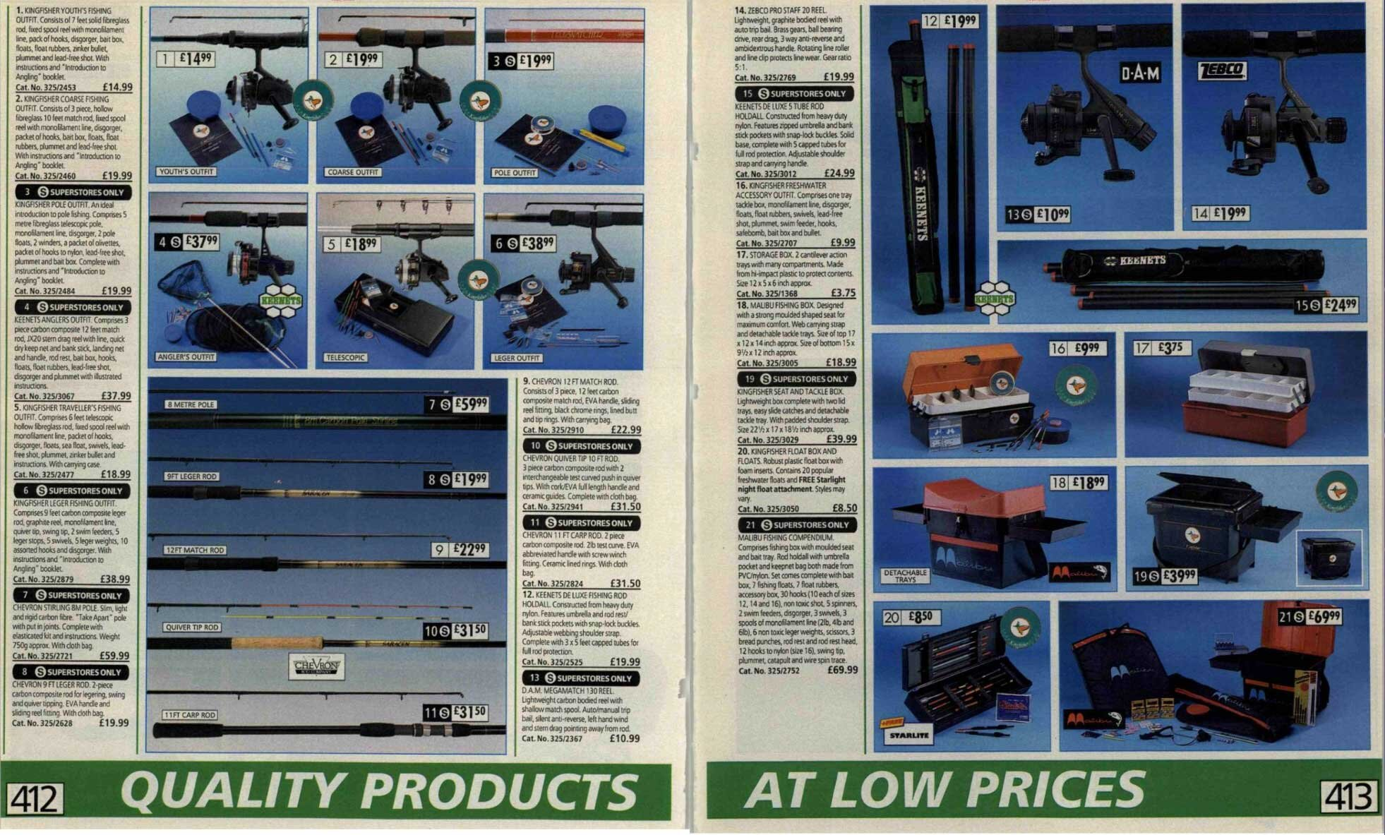 A classic era - 1993/4. Did you have a Kingfisher rod?