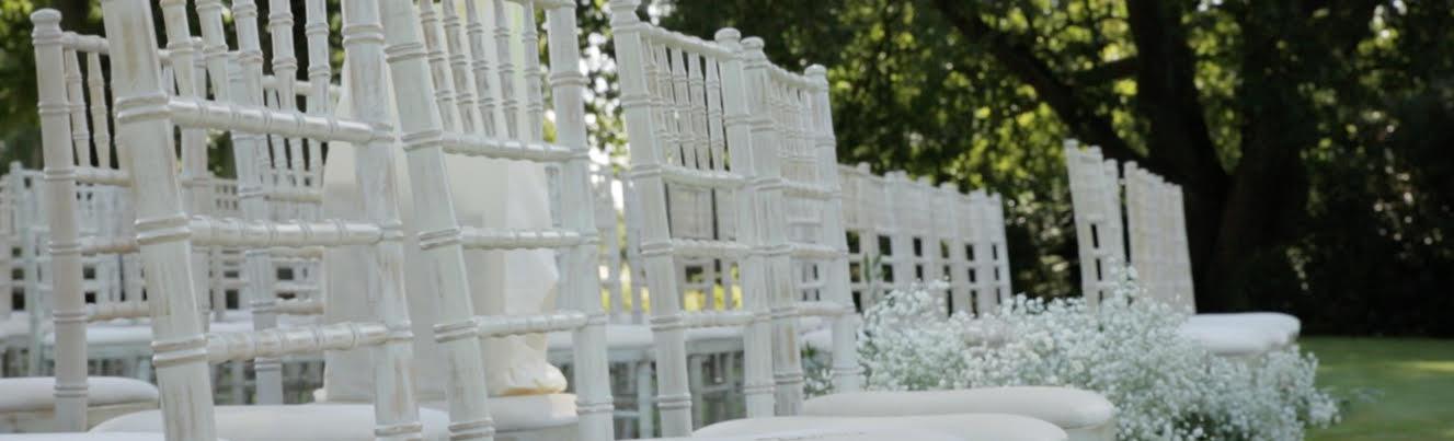 Chairs - £3 per chair - Limewash chivari wedding chairs