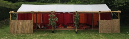 Chillout tent - £700 - Moroccan style tent with bespoke seating, lighting and lining