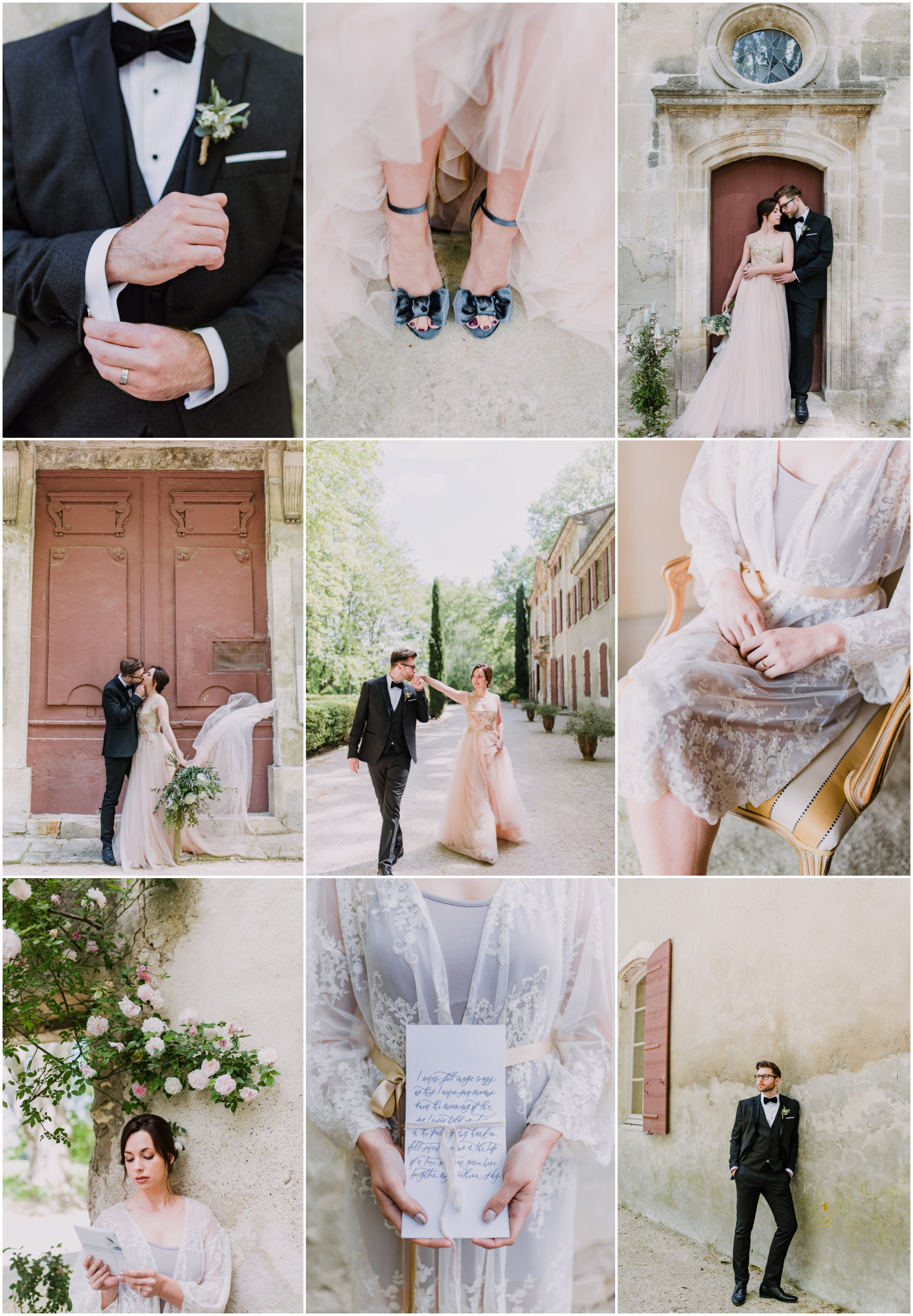 French Wedding at the Chateau de Roussan in Provence blushed pink.jpg