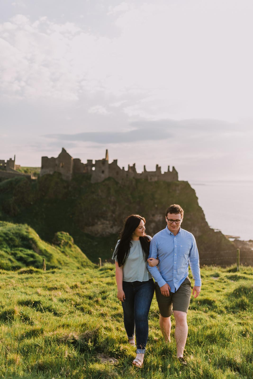 sunset engagement photos by Hello, Sugar taken at Dunluce Castle, Northern Ireland-16.jpg