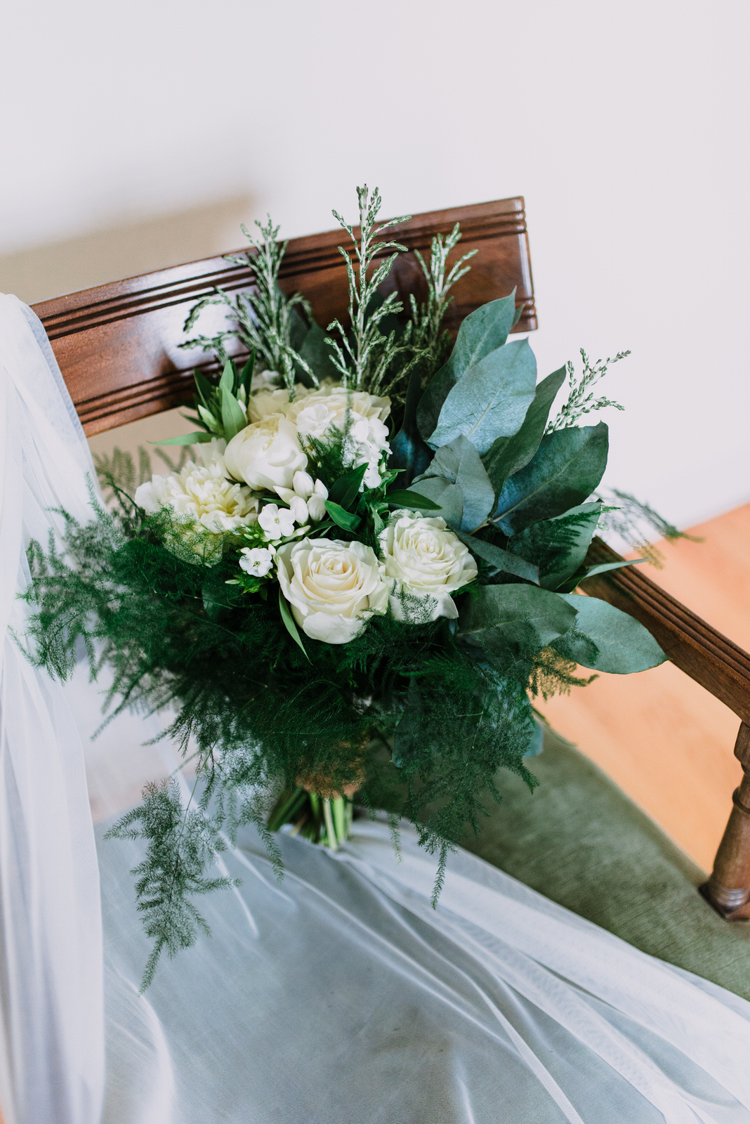 dunluce castle elopement in ireland in sage and white, white and green wedding flowers-1.jpg
