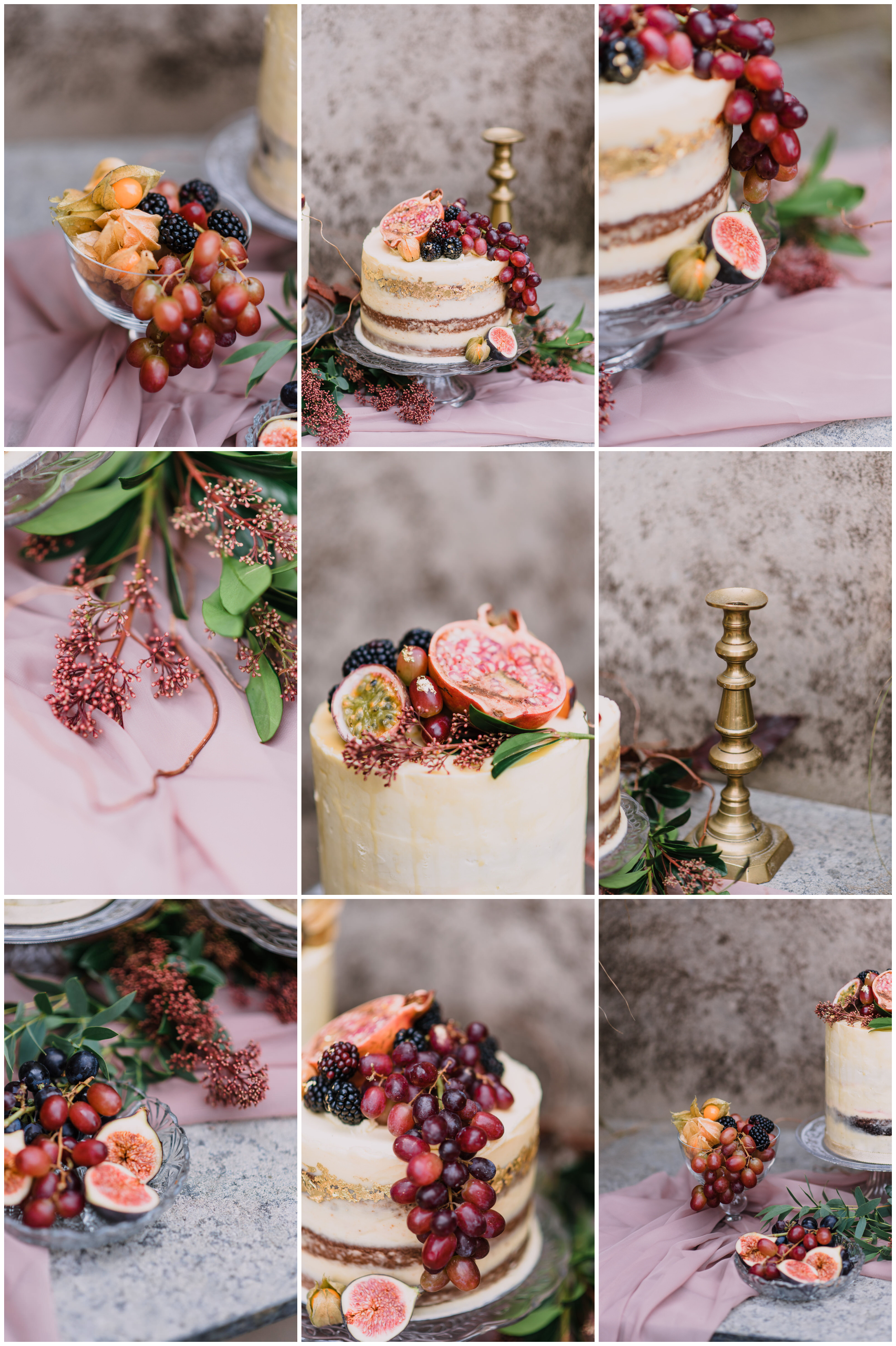 autumn themed wedding at the carriage rooms, montalto estate, naked wedding cake, rustic wedding cake.jpg