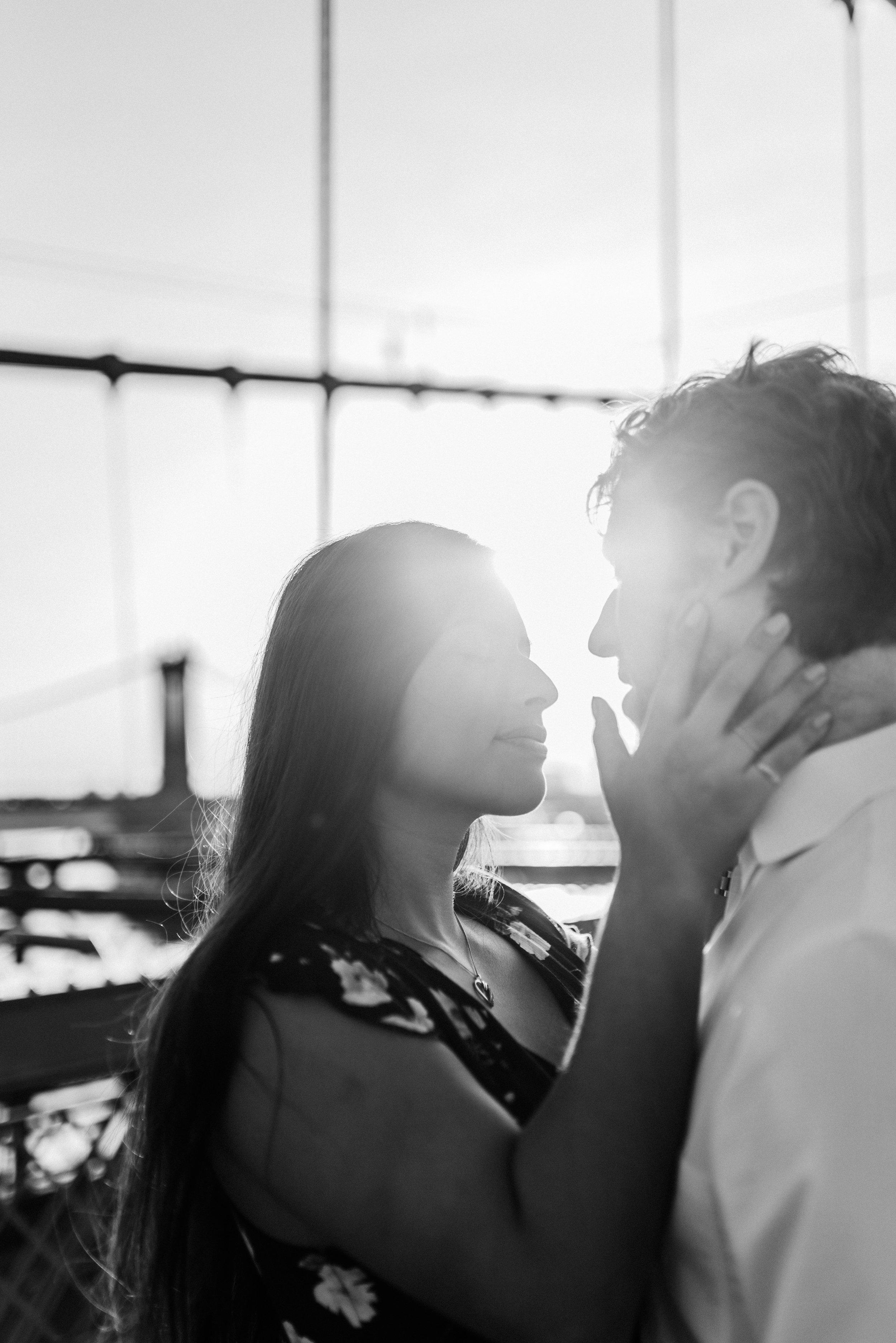 brooklyn bridge engagement shoot, couple shoot nyc, nyc wedding photographer, destination wedding photographer, documentary wedding photographer in nyc (16).jpg