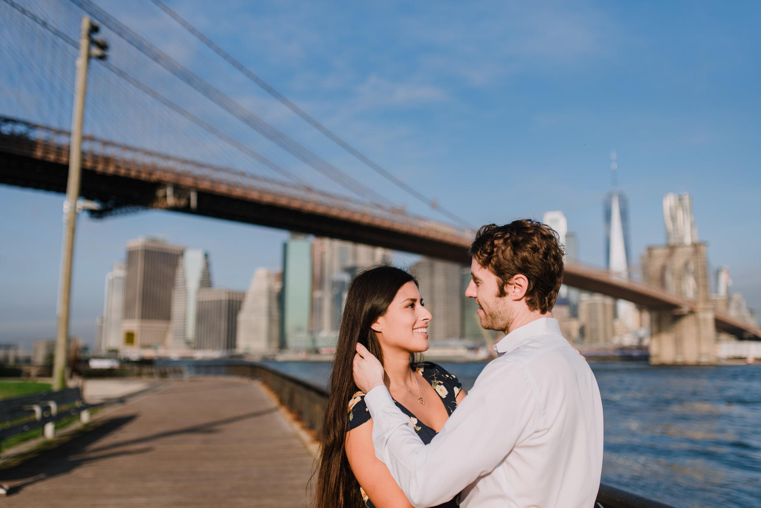 brooklyn bridge engagement shoot, couple shoot nyc, nyc wedding photographer, destination wedding photographer, documentary wedding photographer in nyc (26).jpg