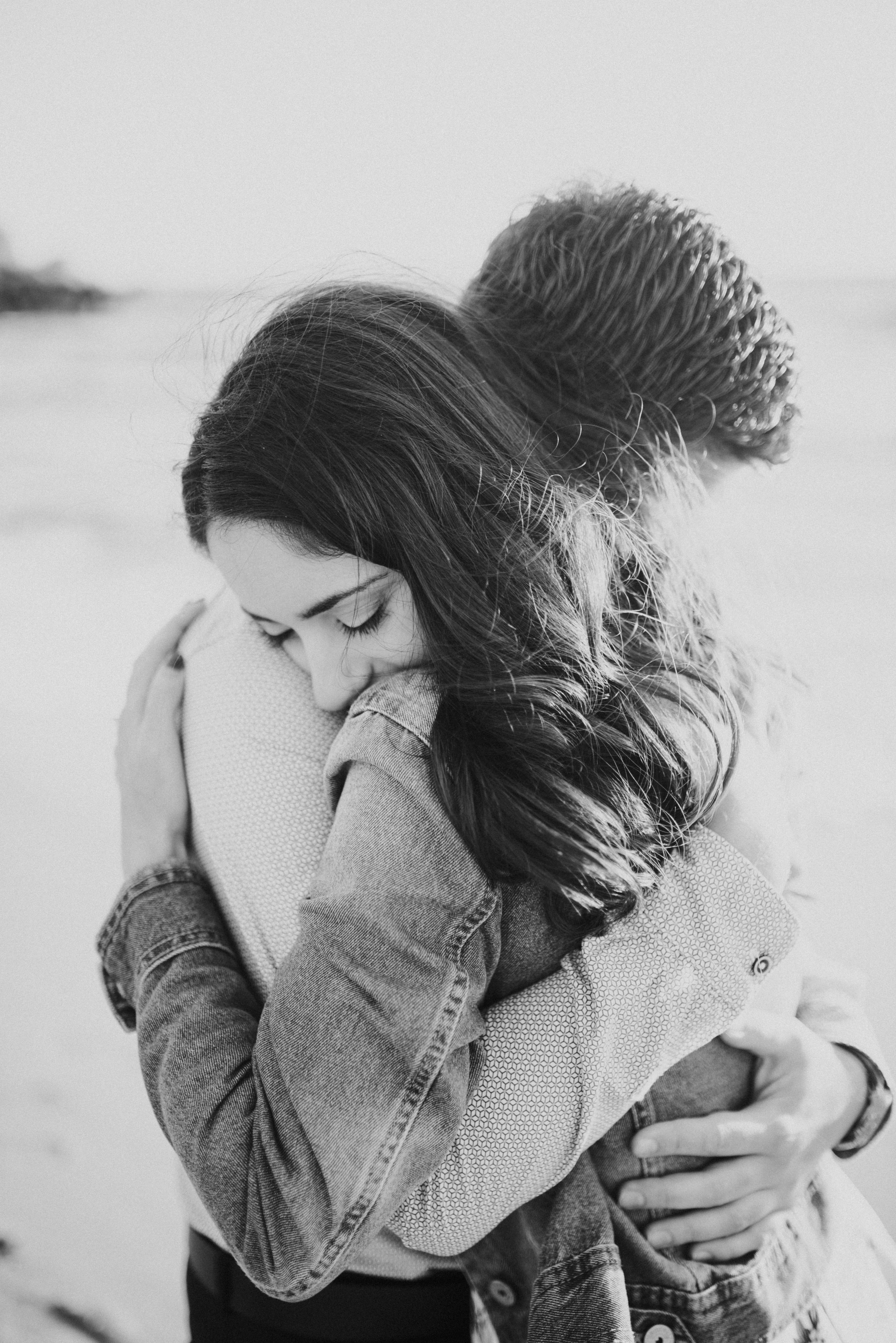 malta wedding photographer, malta wedding, malta wedding vanue, malta engagement shoot, black and white image couple hugging.jpg