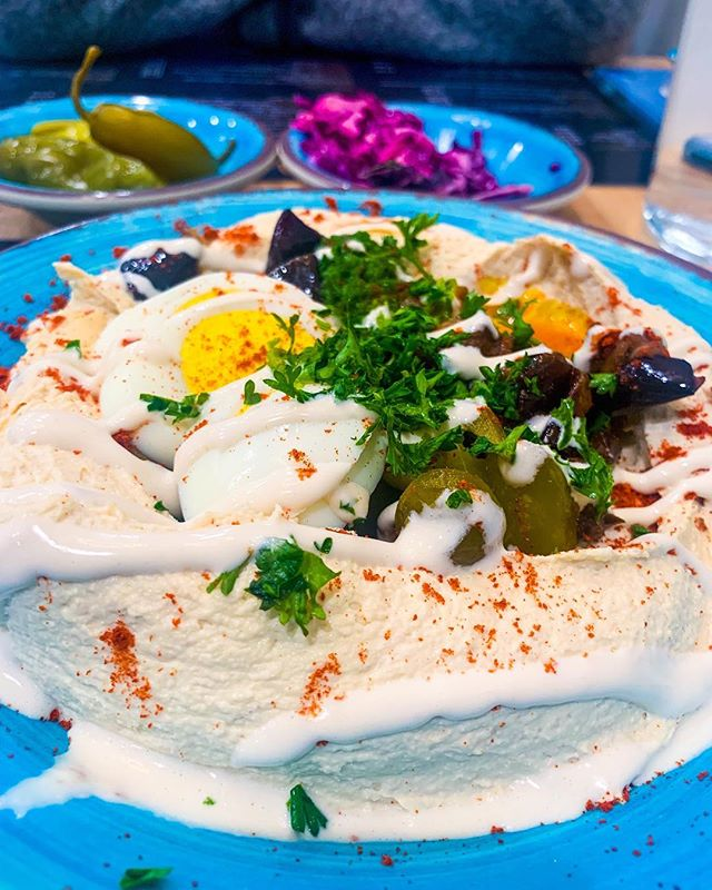 ⠀⠀⠀⠀⠀⠀⠀⠀⠀ 🇮🇱 @rabbimnm and I missed going to Israel 🇮🇱 in the year 2018 🙀. Our first time in 6 years 😢. ⠀⠀⠀⠀⠀⠀⠀⠀⠀ ⠀⠀⠀⠀⠀⠀⠀⠀⠀ ✡️ But we had some time this week to explore Atlanta's kosher scene and to cook up a storm in our kitchen - we went with Middle Eastern dishes all week. Nothing like good food to warm a longing soul. ⠀⠀⠀⠀⠀⠀⠀⠀⠀ ⠀⠀⠀⠀⠀⠀⠀⠀⠀ 📷 Pictured you can see a little piece of Israel we discovered at Tip Top where you park next to a gas station, walk through a tiny makolet and suddenly you're in a room with Hebrew menus and Israelis. My only complaint is that they didn't serve the hummus hot. If you're still reading this: WHERE IN THE UNITED STATES CAN I GET WARM HUMMUS served just like in Israel?!#willflyforhummus⠀⠀⠀⠀⠀⠀⠀⠀⠀ ⠀⠀⠀⠀⠀⠀⠀⠀⠀ 📍Atlanta |📸🙋🏻‍♀️|#latergram ⠀⠀⠀⠀⠀⠀⠀⠀⠀ ⠀⠀⠀⠀⠀⠀⠀⠀⠀ ⠀⠀⠀⠀⠀⠀⠀⠀⠀ #travel #travelpic #travelblog #jewish #judaism #jewishlife #rabbi #reformjudaism #religion #faith #spiritual #soul #instatravel #travelphoto #travelphotography #travelgram  #israel #israelicool #jewishatl #jewishatlanta #hummus #israelifood #sabich #hebrew