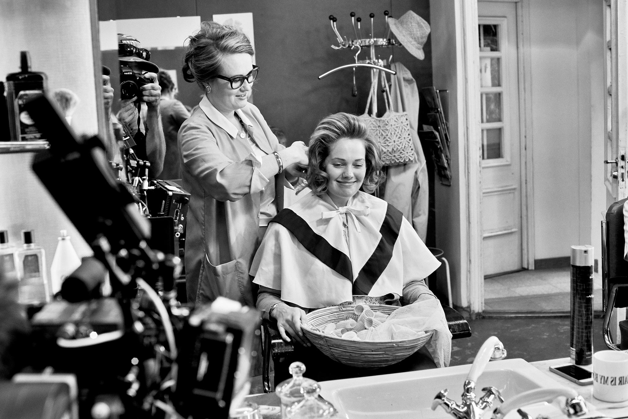I also got to play a small cameo role as a hairdresser in the film which was great fun.  Photo by Sami Kuokkanen