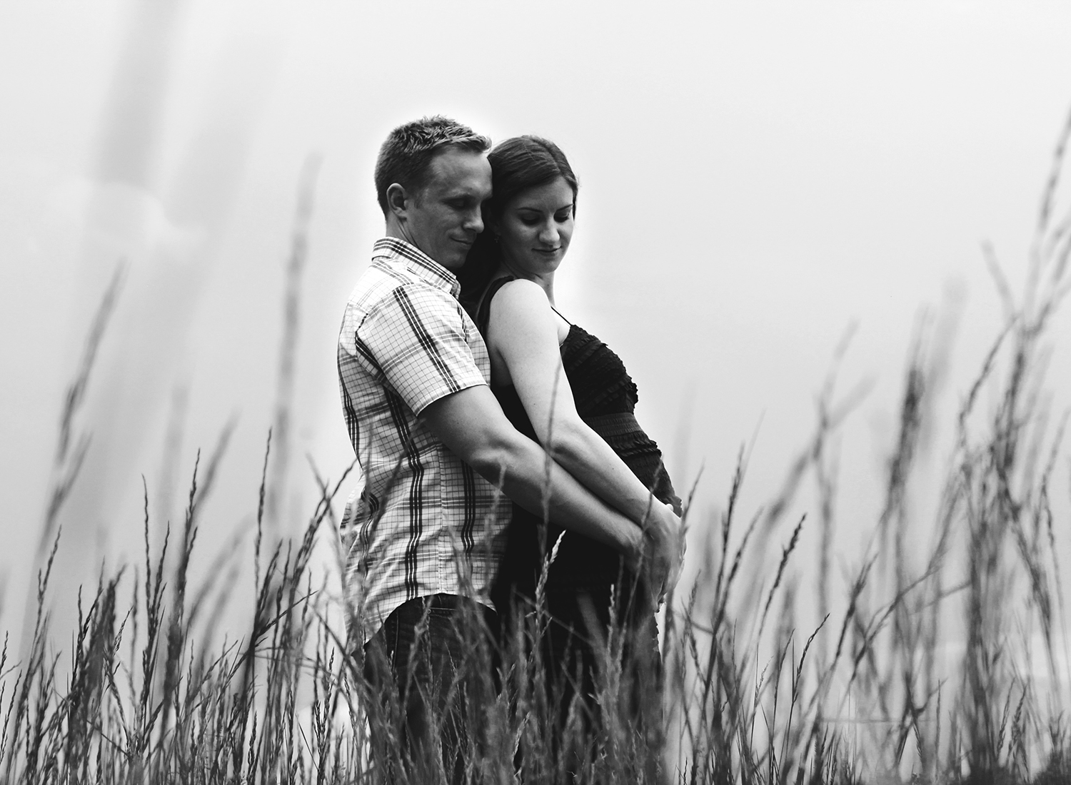 Copy of professional maternity photo overlooking pond in penn yan new york