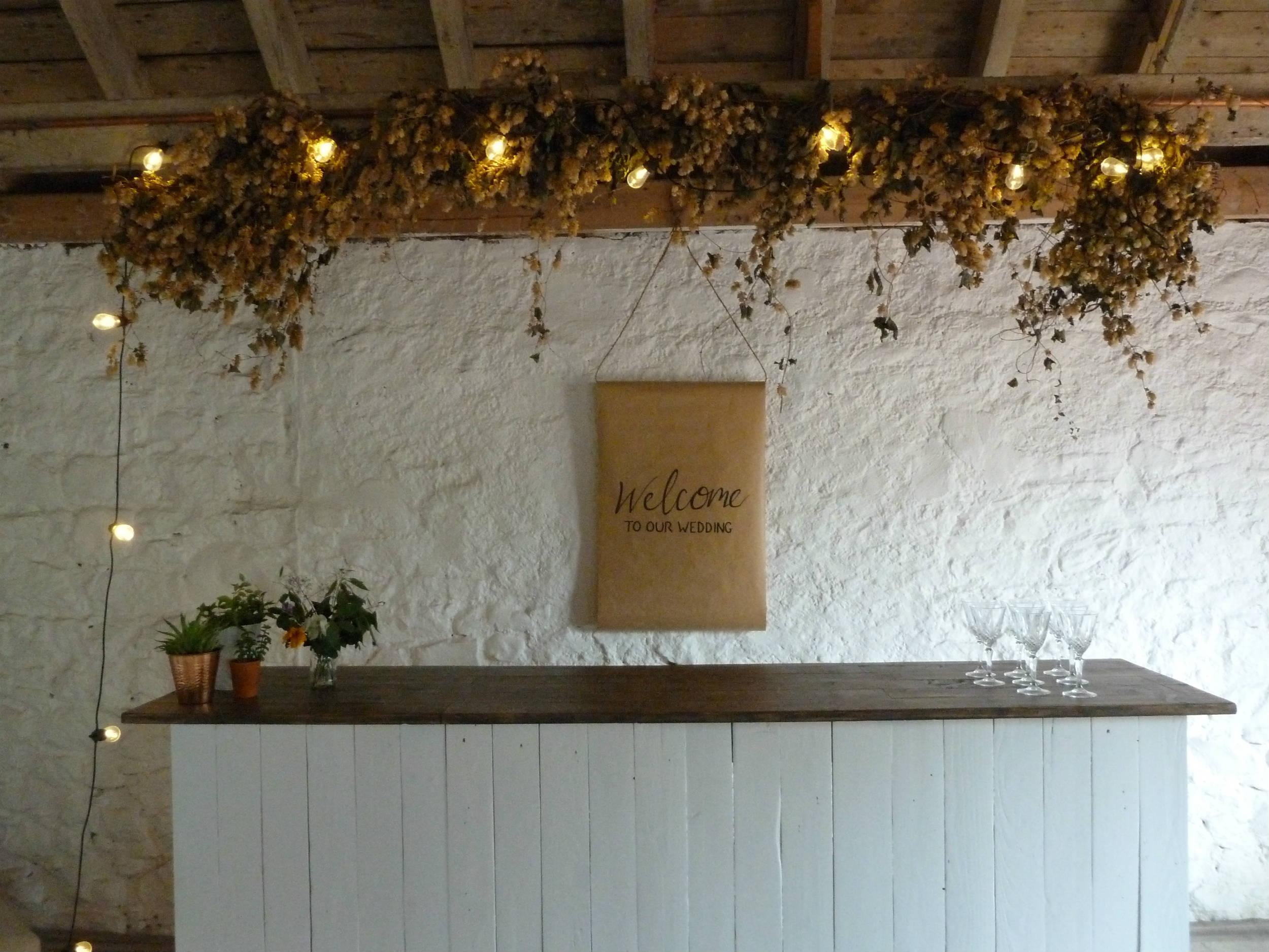 White Beach Bar | Rustic Bar Hire | HoplerWoodCo