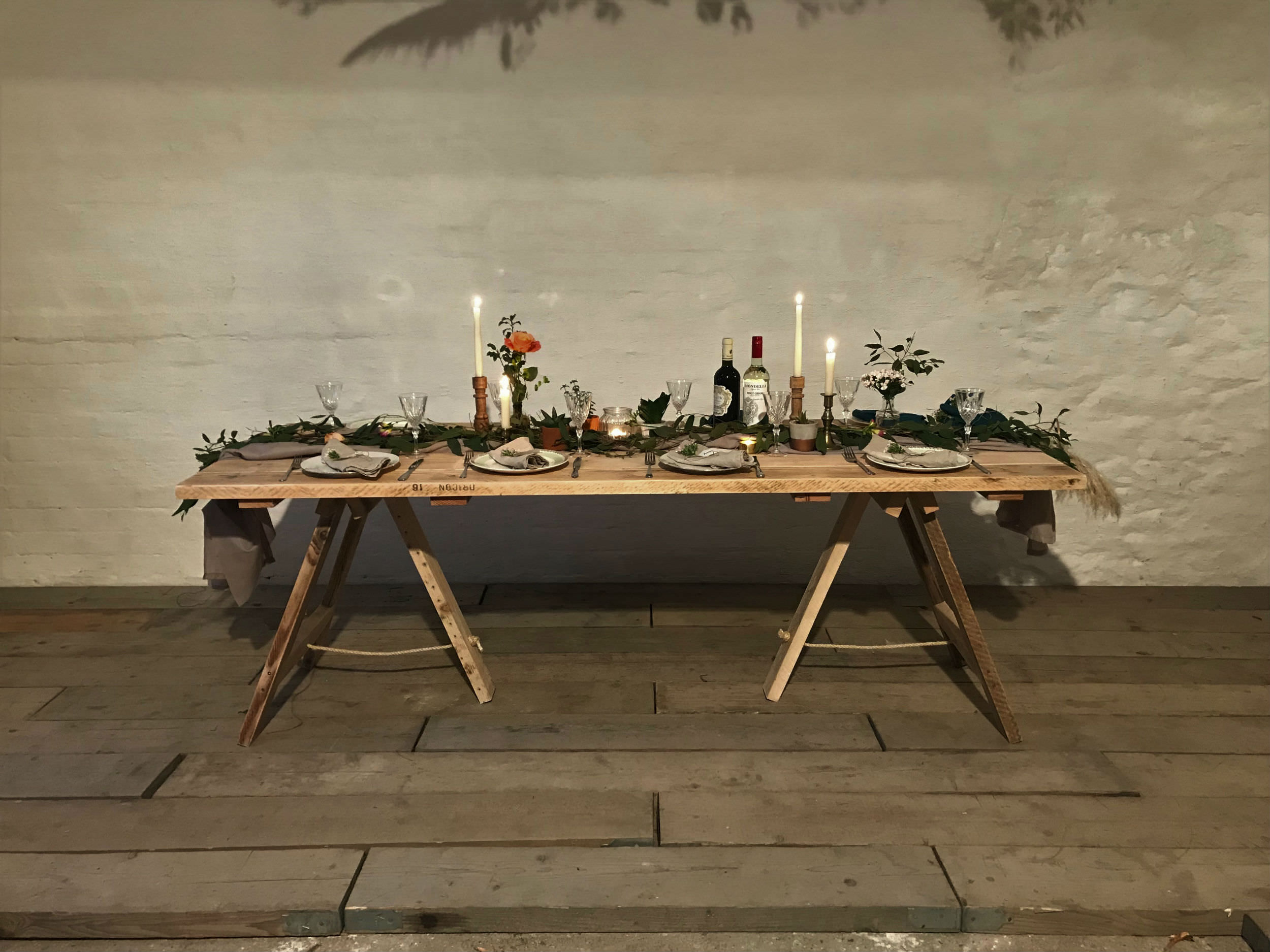 the workshop trestle table